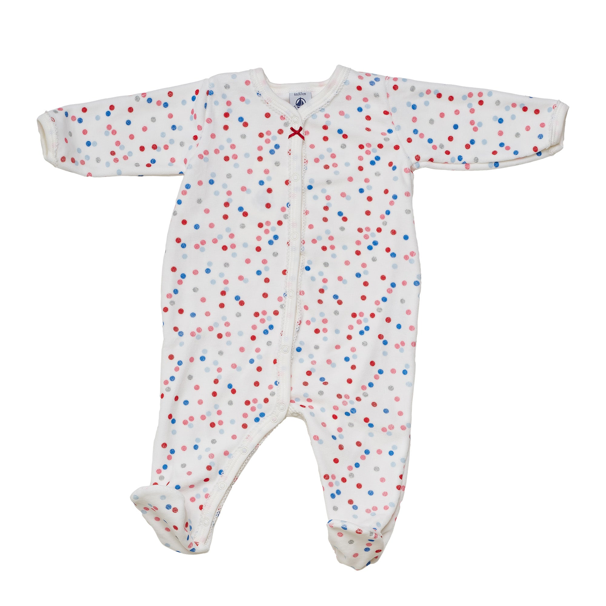 BABY GIRLS CREAM/MULTICOLOR PLAYSUIT