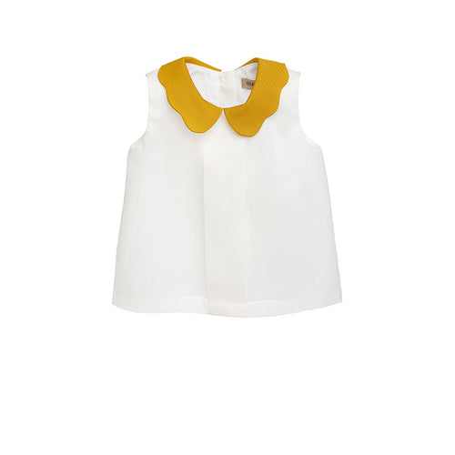 Baby Girl Yellow Collar Shell Top