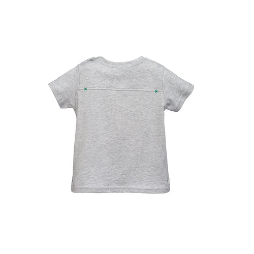 Boys Grey Cactus Printed T-Shirt