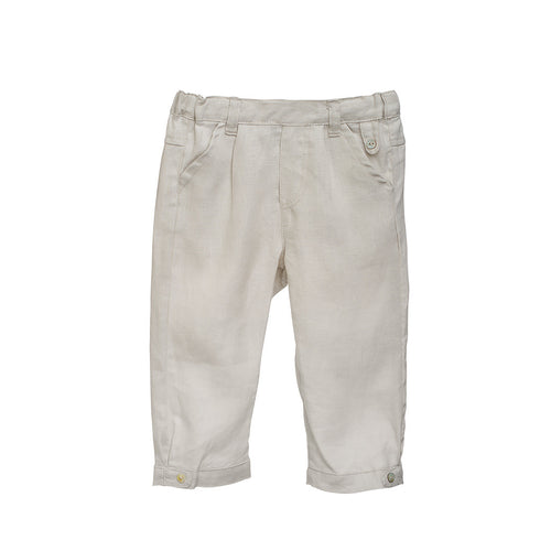 Boys Khaki Linen Pants