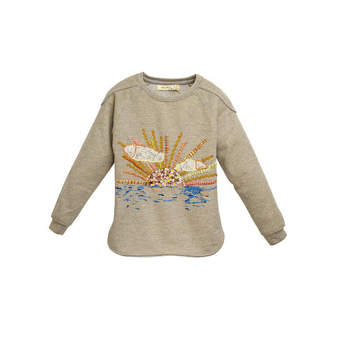 Girls Ash Embroidered Signe Sweatshirt