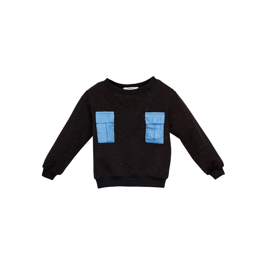 Black Jersey Boys Sweatshirt with pockets