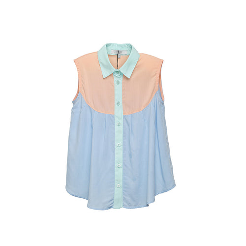 Multi-coloured Sleeveless Girls Blouse