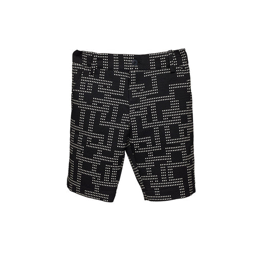 Black Jaquard Boys Shorts