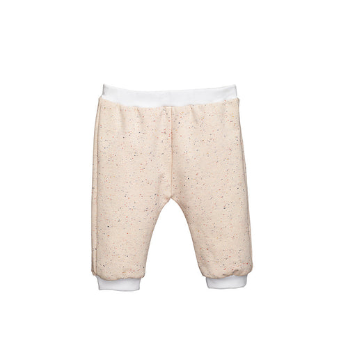 Cream Jersey Baby Girls Pants