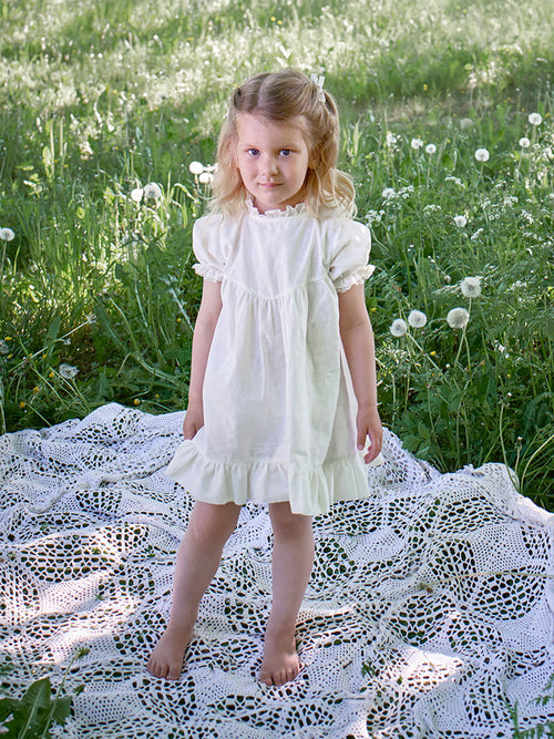 Odette Dress Natural White