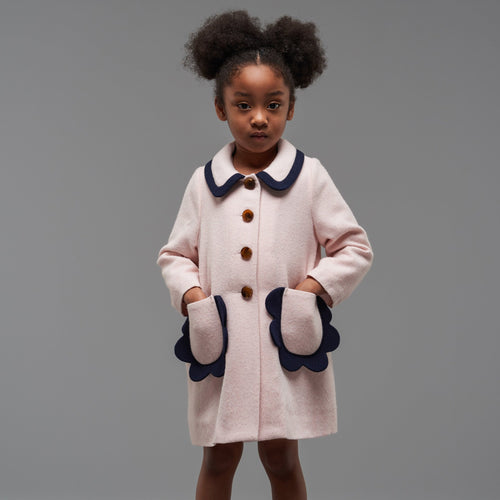 Girls Petal Pocket Coat