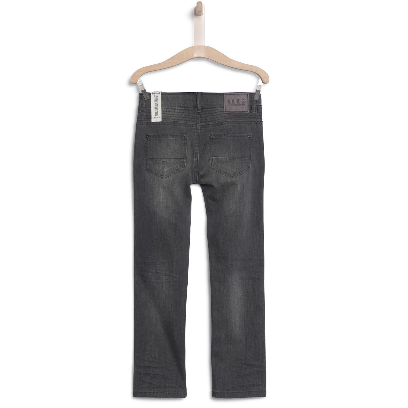 BOYS SLIM FIT DENIM WITH KNEE DETAIL MOOD MEDIUM GREY