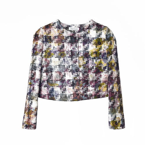 Girls MULTICOLOR houndstooth JACKET