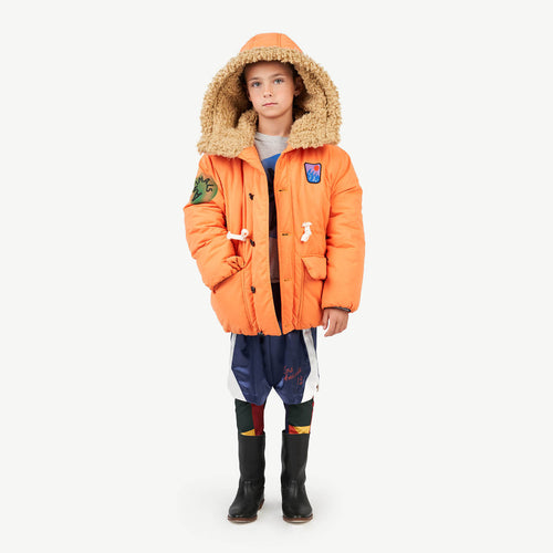 Calf Kids Jacket Orange Animals