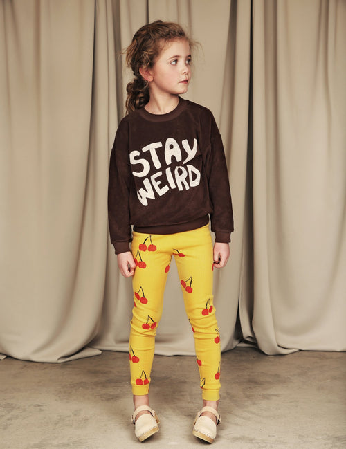 Stay Weird Sp Terry Sweatshirt Brown