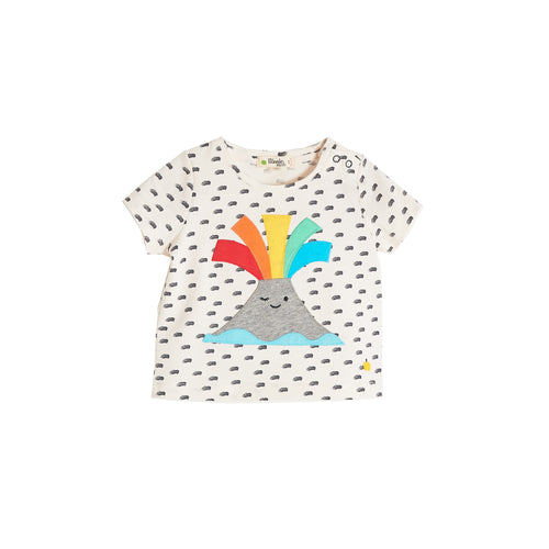 BABY BOY/GIRL VOLCANO APPLIQUE SHORT SLEEVE T SHIRT