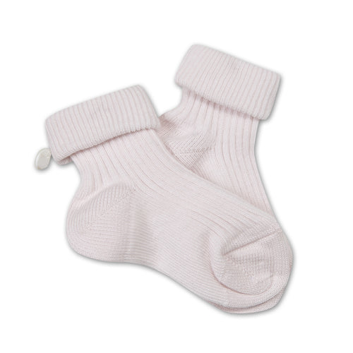 Baby Girls White Pink Socks