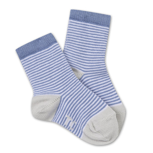 Boys Blue/Grey Striped Socks