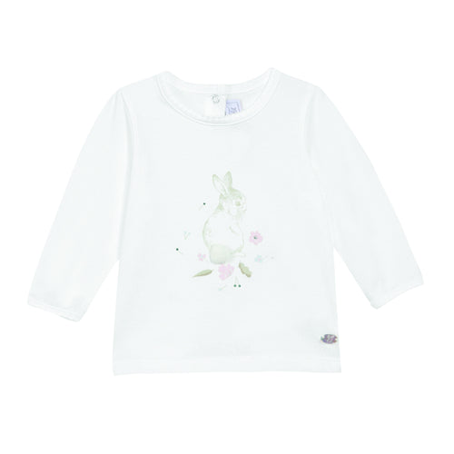 BABY GIRLS Pearl White TEE SHIRT