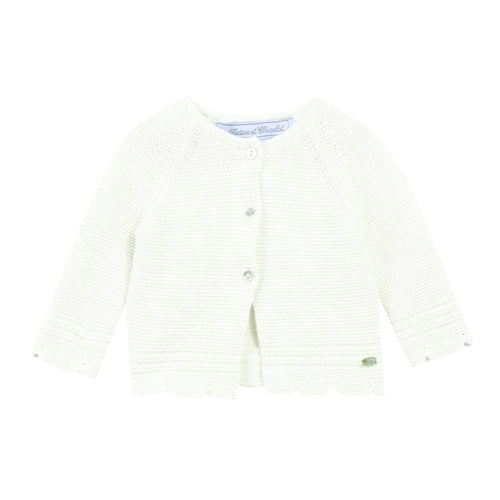 BABY GIRLS Pearl White CARDIGAN