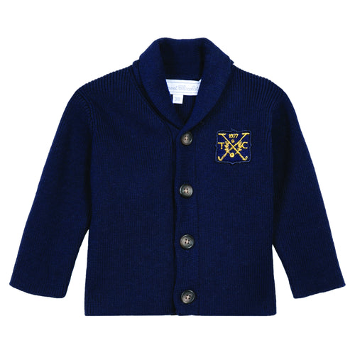 BOYS Navy CASHMERE CARDIGAN