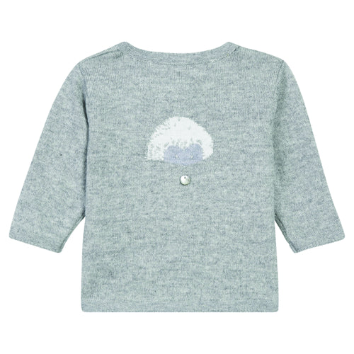 BABY UNISEX Light Grey CARDIGAN