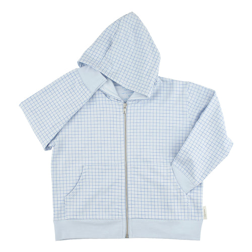 Tinycottons Blue Grid Hoodie