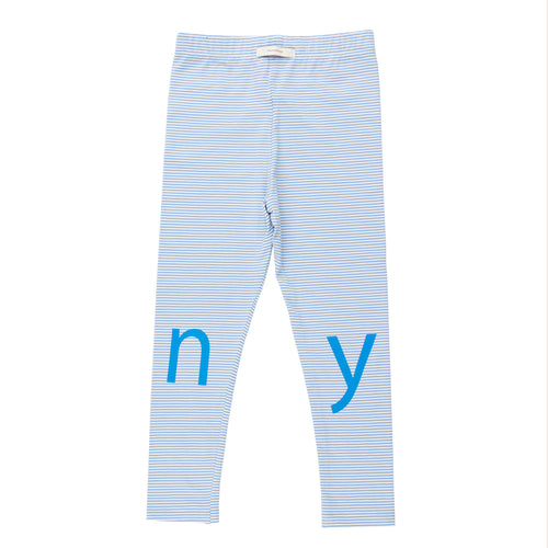 Baby & Kids off-white/cerulean blue t-i-n-y logo pants
