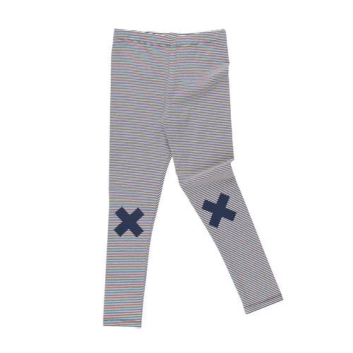 Baby & Kids off-white/navy multi lines logo pants