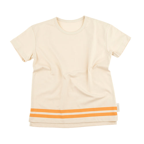 Baby & Kids stone/light brick lines pique tee-shirt