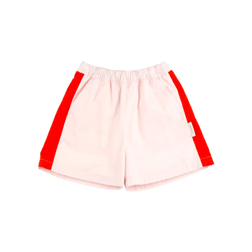 Tinycottons Light Pink and Carmine Boys Shorts