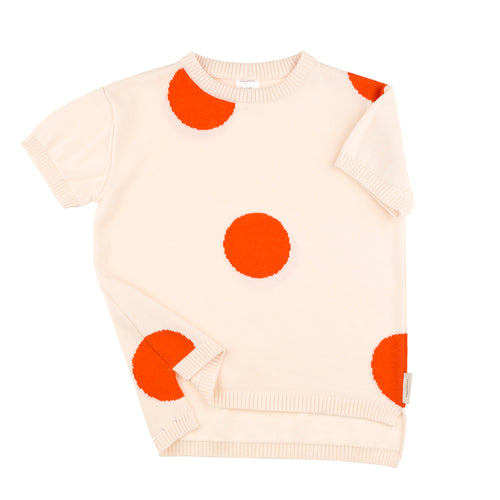 Carmine Polka Dot Sweater