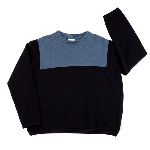 Kids navy/light navy sailor sweater