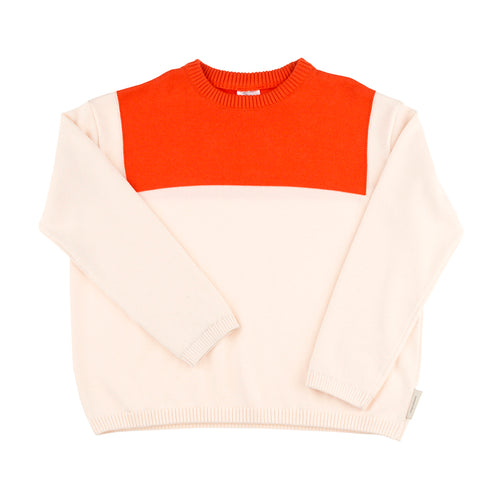 Kids light pink/carmine sailor sweater