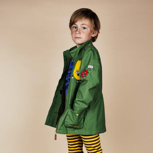Mini Rodini Green Veggie Print Jacket