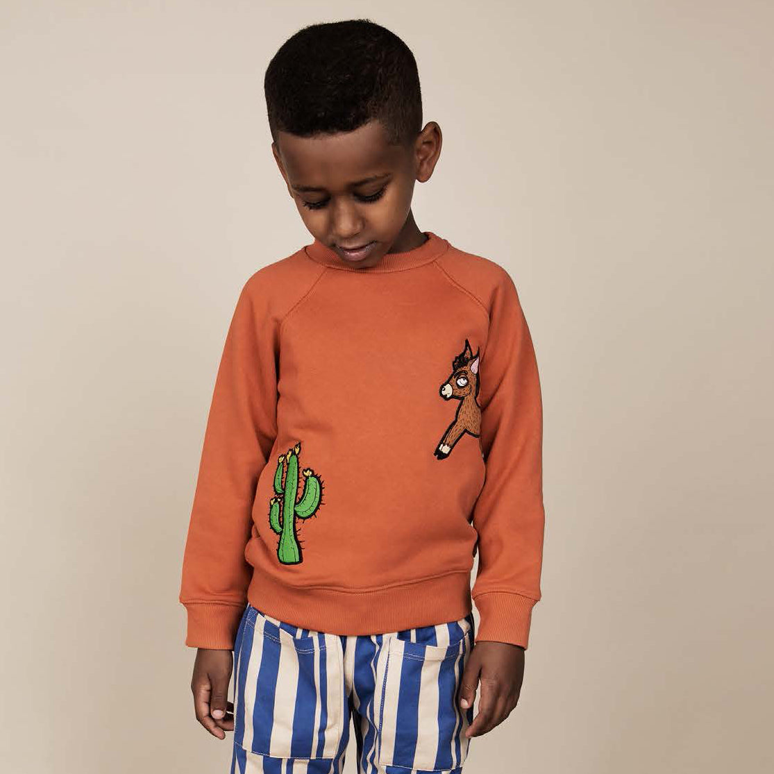 Donkey Cactus Sweatshirt orange