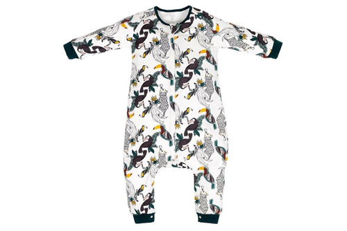 Organic Cottons Long Sleeve Sleep Suit 1.0 TOG - Jungle Fever