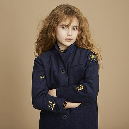 Girls Navy Blue Cali Coat