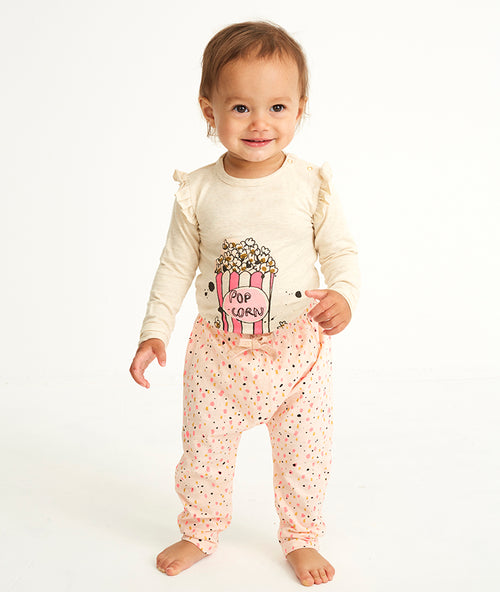 Baby AOP Shimmy Peach Parfait Hailey Pants