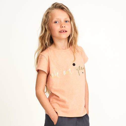 Girls We Are Apricot Pilou T-shirt