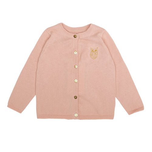 Baby Mini Owl Emb. Rosecloud Carrie Cardigan