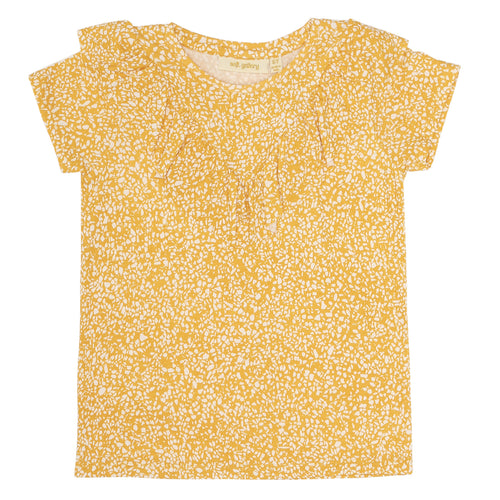Girls AOP Chips Cream Gardenia Alissa T-shirt