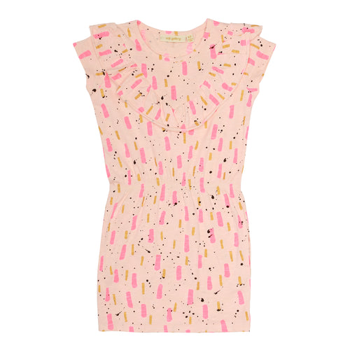 Girls AOP Beat Peach Parfait Ariella Dress
