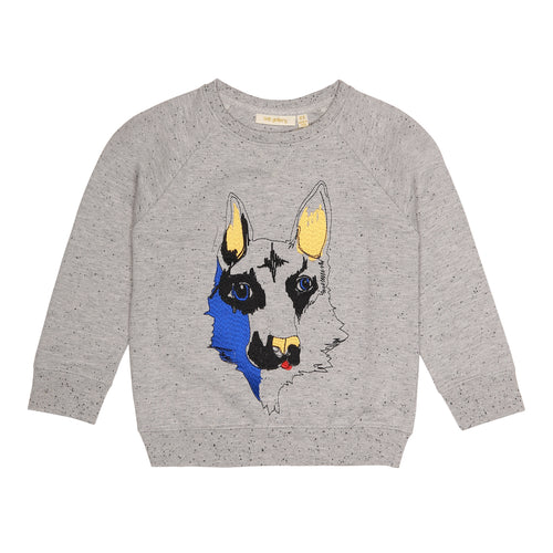 Boys Shepard Emb Grey Black Neppy Siggi Sweatshirt