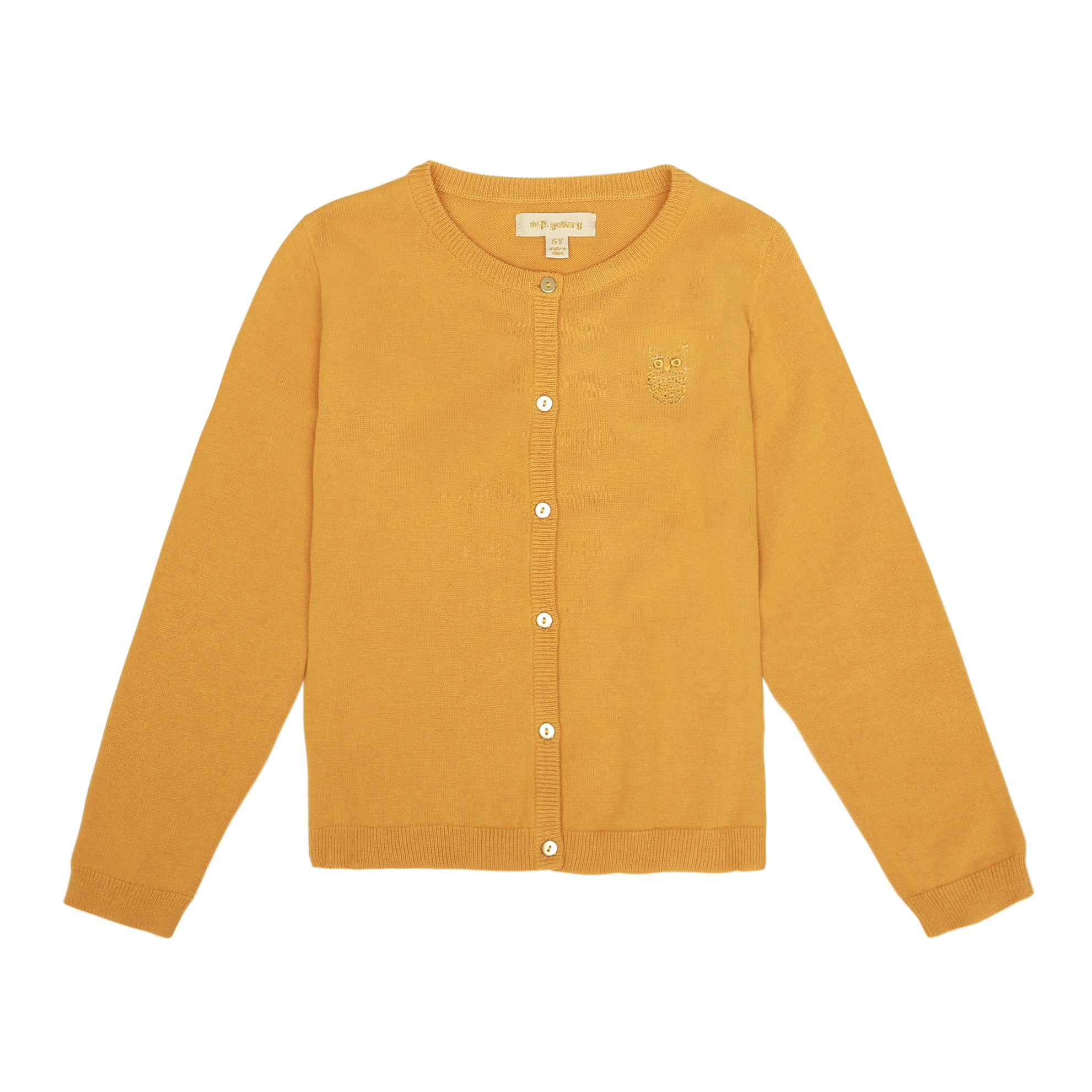 Girls Mini Owl Emb. Golden Glow Mila Cardigan