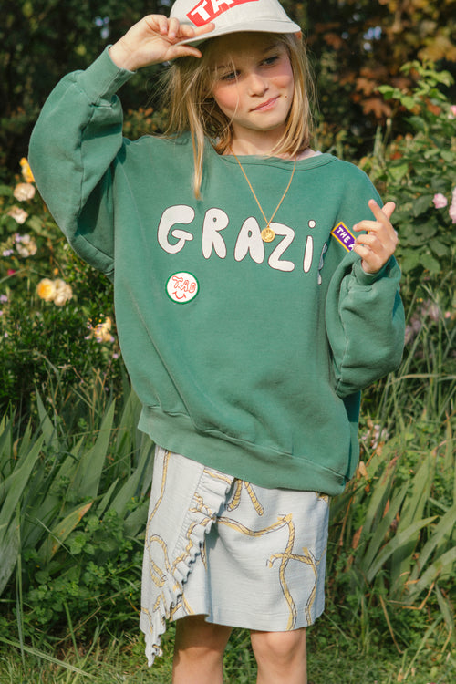 Big Bear Sweatshirt Green Grazie
