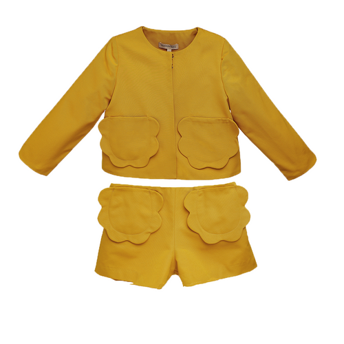 Girls Marigold Buttercup Jacket and Shorts Set
