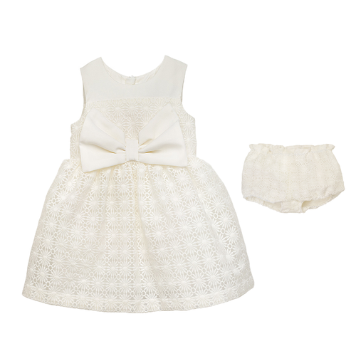 Baby Girls Embroidered Daisy Bodice Dress & Bloomers