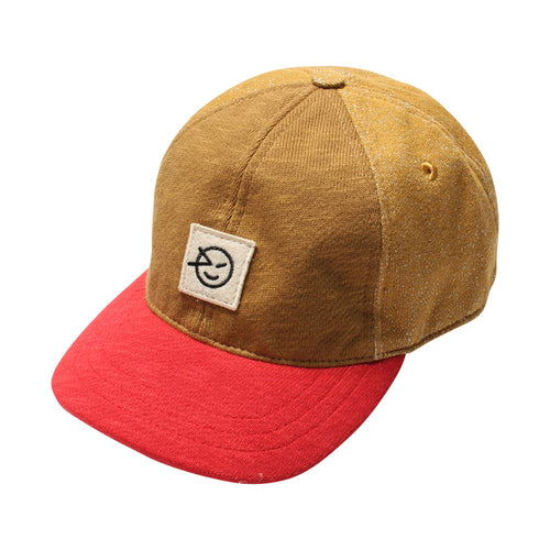 Badge Cap Red/Bronze