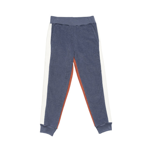 Side Panel Track Pant Blue/Deep Coral/Ecru