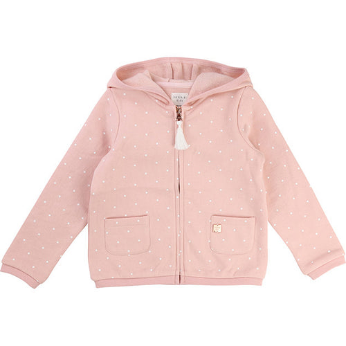 Girls PINK HOODIE WITH COTTON FLEECE