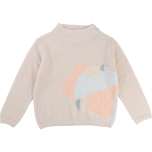 Girls NUDE PINK/BEIGE SWEATER