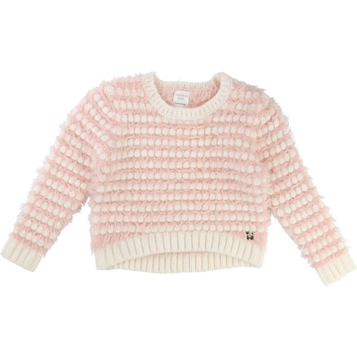 Girls PINK/CREAM SWEATER