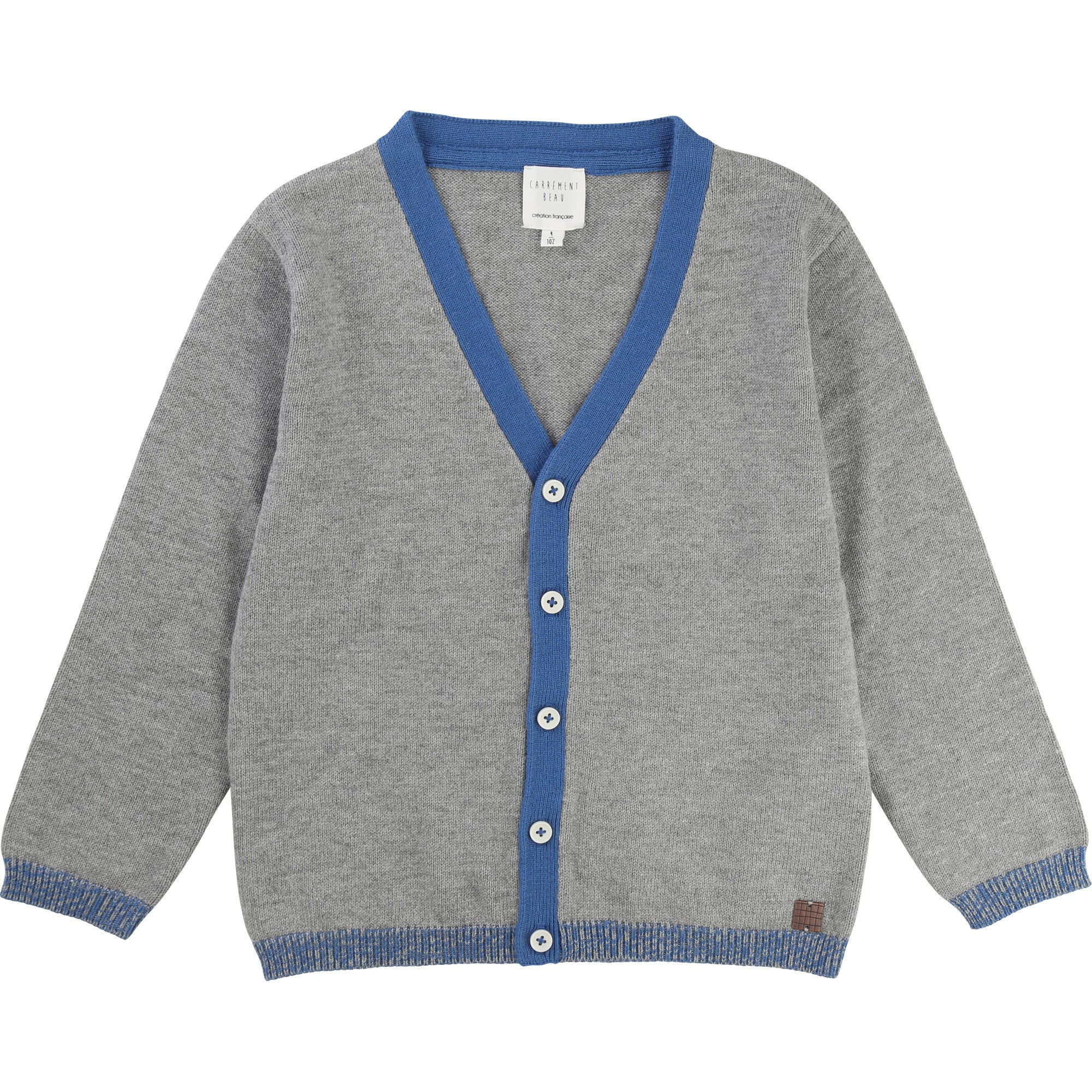 BOYS GREY CARDIGAN